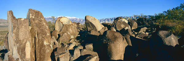 Mythological Photograph - Panoramic Image Of Petroglyphs At Three by Panoramic Images