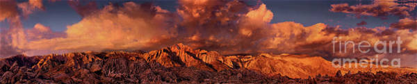 Photograph - Panoramic Sunrise Clouds Alabama Hills Eastern Sierras California by Dave Welling