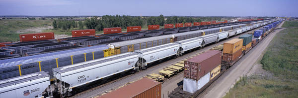 Nebraska Landscape Photograph - Panoramic View Of Freight Cars At Union by Panoramic Images