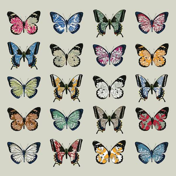 Butterfly Wall Art - Digital Art - Papillon by Sarah Hough