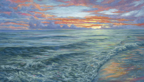 Painting - Paradise Sunset by Lucie Bilodeau