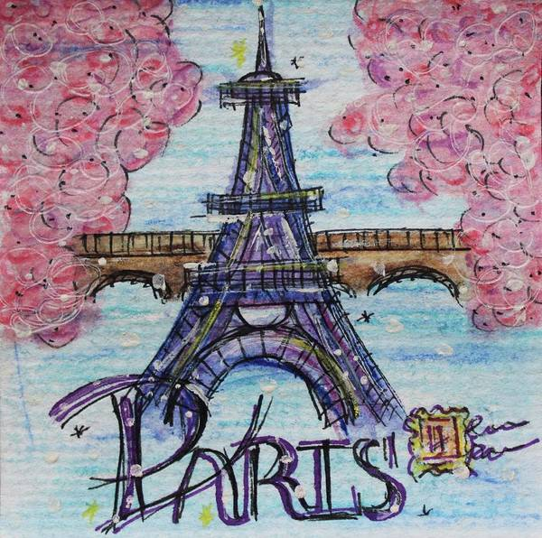 City Painting - Paris by Art By Naturallic