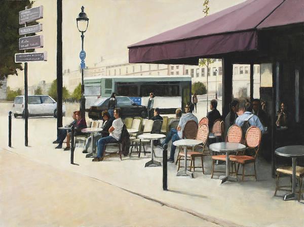 Wall Art - Painting - Paris Cafe by Tate Hamilton