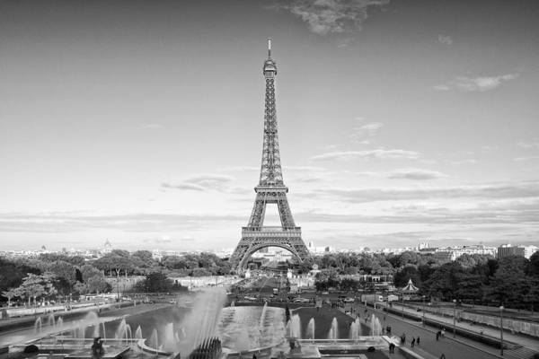 Champ Photograph - Paris Eiffel Tower Monochrome by Melanie Viola