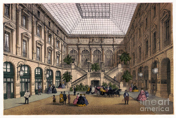 Drawing - Paris, Hotel Courtyard.  by Granger