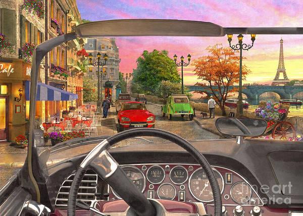 Wall Art - Photograph - Paris In A Car by Dominic Davison