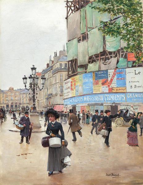 Painting - Paris, Rue Du Havre by Jean Beraud