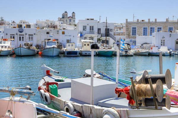 Promenade Photograph - Paros - Cyclades - Greece by Joana Kruse