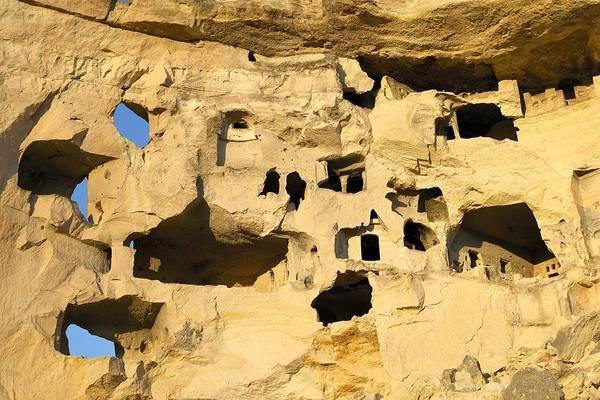 Eastern Anatolia Photograph - Cavusin Cliff Village Near Goreme, Cappadocia, Turkey. Ancient Christian Churches And Houses.  by David Lyons