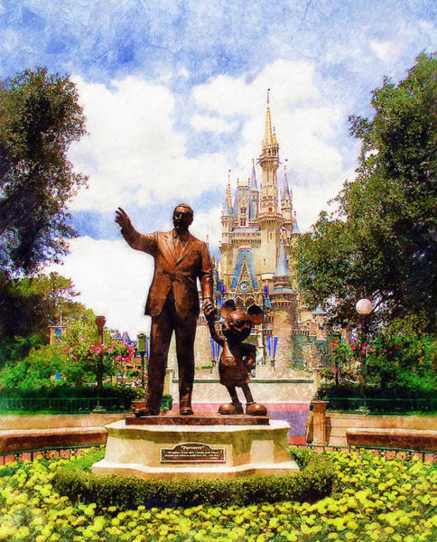 Disney World Digital Art - Partners by Sandy MacGowan