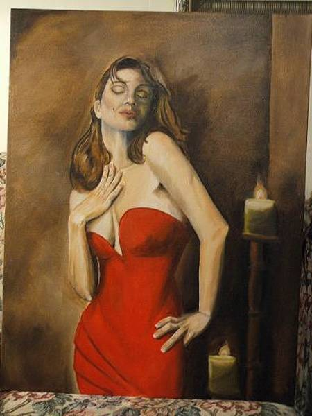 Gandy Wall Art - Painting - Passion by Luke Gandy