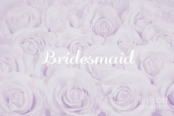 Wall Art - Photograph - Pastel Purple Bride by Lucid Mood