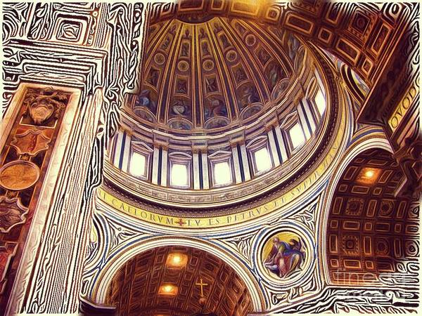 Vatican Painting - Patterns Of Places - Vatican by Sarah Kirk