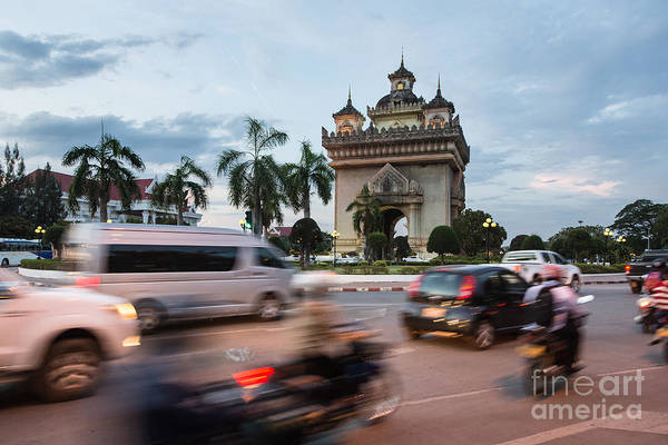Photograph - Patuxay Monument In Vientiane In Laos by Didier Marti