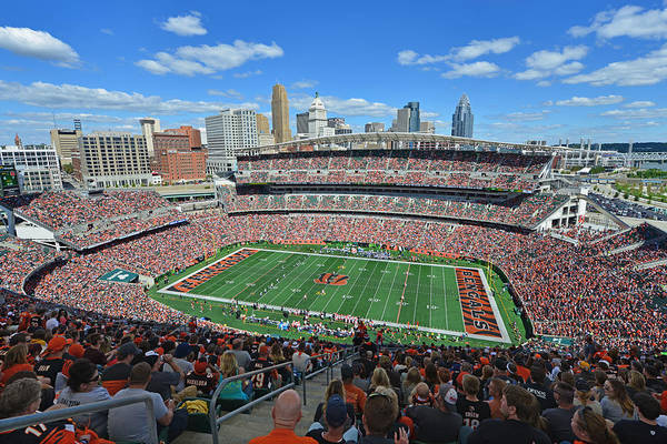 Paul Brown Stadium - Cincinnati Bengals Art Print