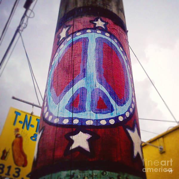 Utility Pole Photograph - Peace Pole by Scott Pellegrin