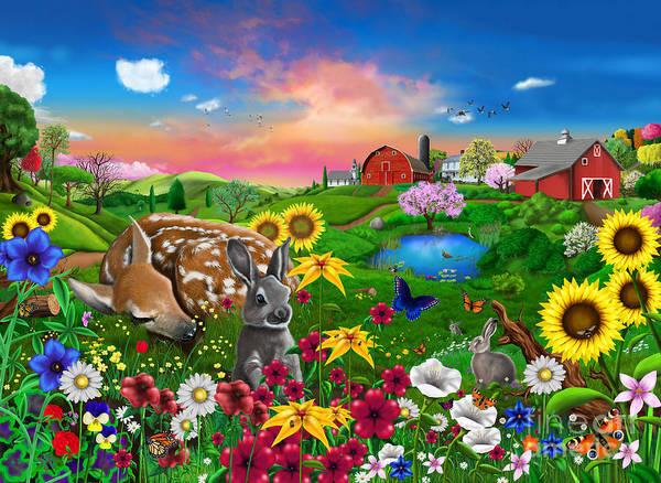 Poppies Digital Art - Peaceful Pastures by MGL Meiklejohn Graphics Licensing