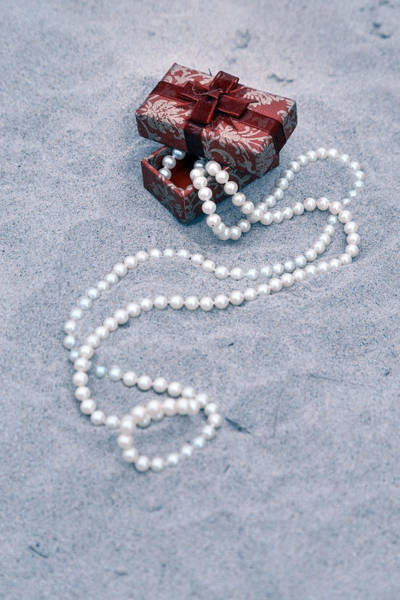 Founded Photograph - Pearl Necklace by Joana Kruse