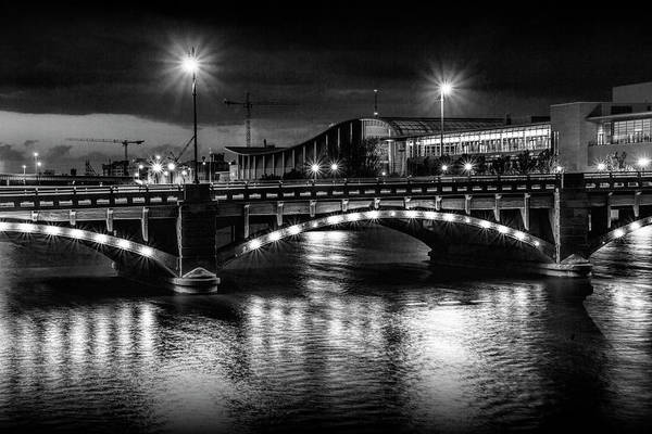 Photograph - Pearl Street Bridge At Night by Randall Nyhof