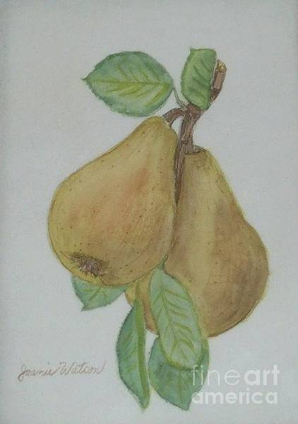 Painting - Pears by Jeanie Watson