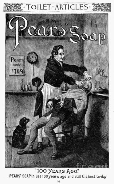 Photograph - Pears Soap Ad, 1888 by Granger