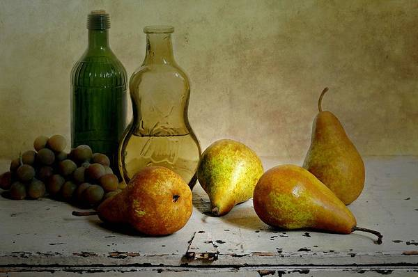 Wall Art - Photograph - Pears'n Bottles by Diana Angstadt