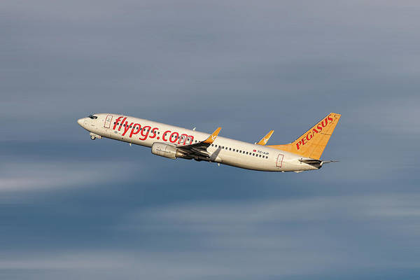 Boeing Mixed Media - Pegasus Airlines Boeing 737-82r by Smart Aviation