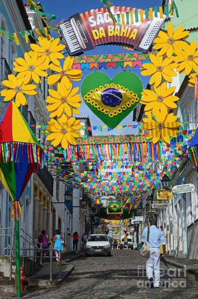 Worldcup Photograph - Pelourinho - The Historic Center Of Salvador by Ralf Broskvar