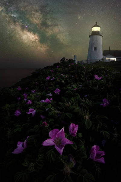 Wall Art - Photograph - Pemaquid Point Lighthouse Under The Stars by Jeff Bazinet
