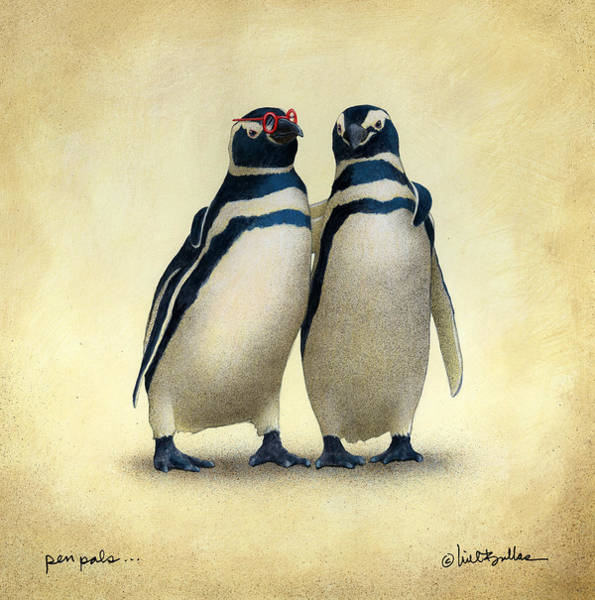 Penguin Painting - Pen Pals... by Will Bullas