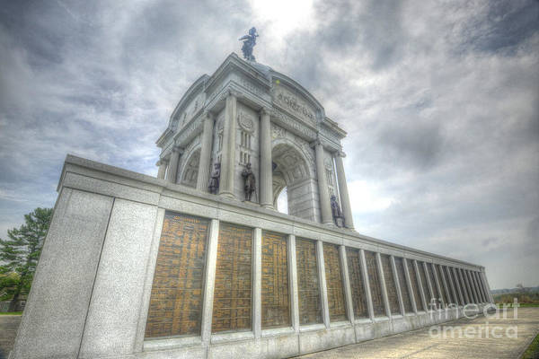 Photograph - Pennsylvania Monument by Paul W Faust - Impressions of Light