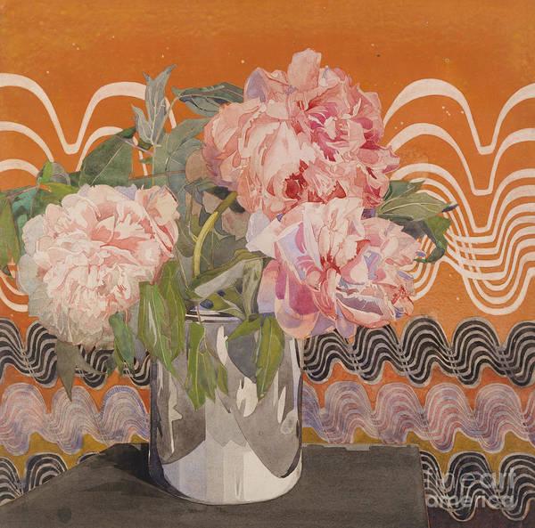 Wall Art - Painting - Peonies by Charles Rennie Mackintosh