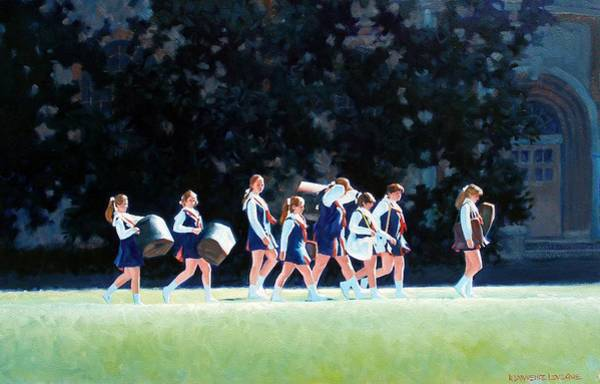 Marching Band Painting - Pep Squad by Kevin Lawrence Leveque