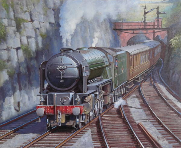 Tunnel Painting - Peppercorn Pacific. by Mike Jeffries