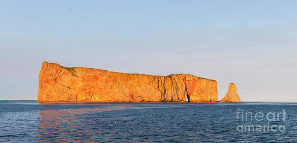 Photograph - Perce Rock At Sunset by Elena Elisseeva