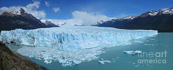 Photograph - Perito Moreno Glacier Panorama by Warren Photographic