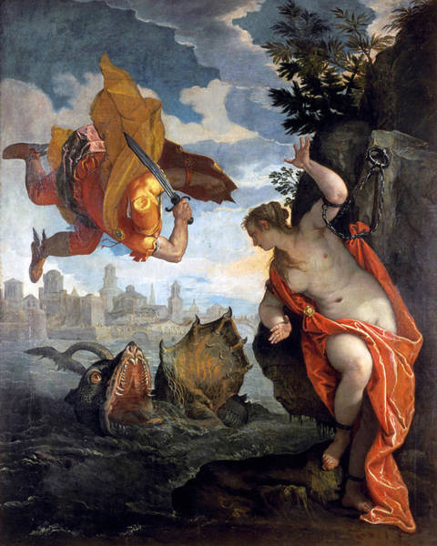 Saving Painting - Perseus Rescuing Andromeda by Paolo Veronese