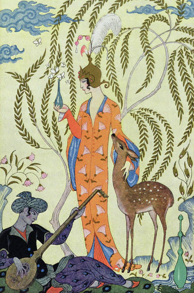 Strum Wall Art - Painting - Persia by Georges Barbier