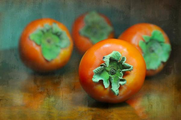 Wall Art - Photograph - Persimmons by Diana Angstadt