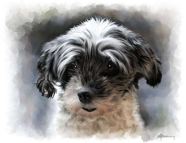 Wall Art - Painting - Pet Dog Portrait by Michael Greenaway
