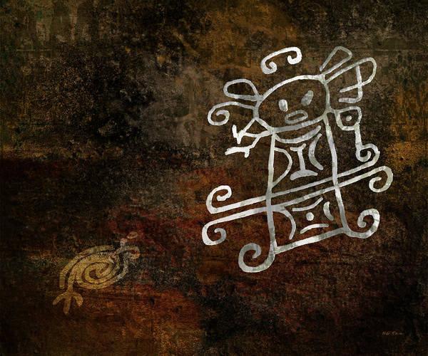 Petroglyphs Digital Art - Petroglyph 1 by Bibi Rojas