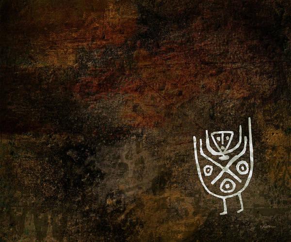 Petroglyphs Digital Art - Petroglyph 3 by Bibi Rojas