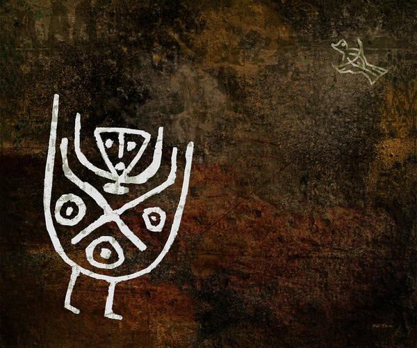 Petroglyphs Digital Art - Petroglyph 4 by Bibi Rojas