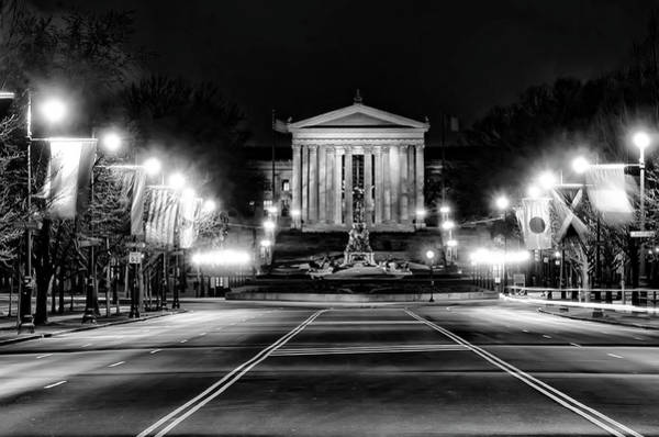 Photograph - Philadelphia At Night - Art Museum by Bill Cannon