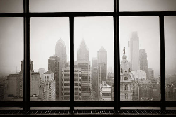 Wall Art - Photograph - Philadelphia City Rooftop by Songquan Deng