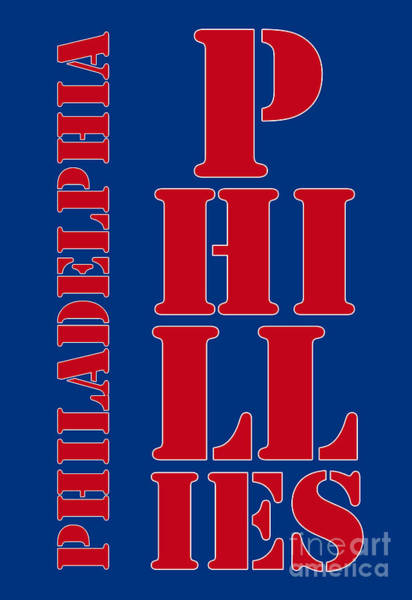 Citizens Bank Park Wall Art - Digital Art - Philadelphia Phillies Typography by Drawspots Illustrations