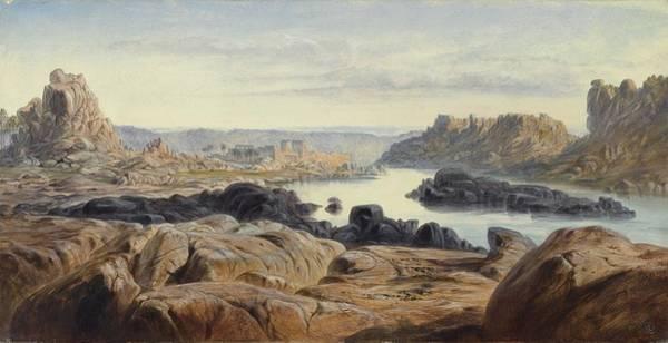 Philae Painting - Philae by Edward Lear
