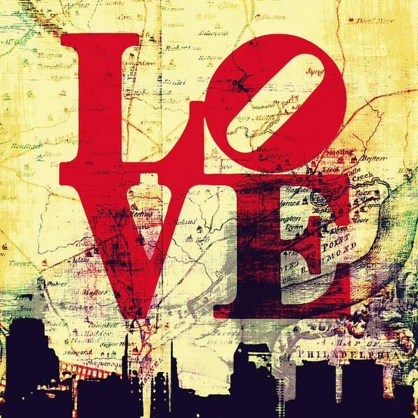 Brotherly Love Digital Art - Philly Love V9 by Brandi Fitzgerald