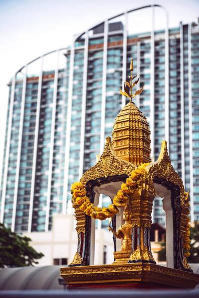 Phra Phrom Photograph - Phra Phrom Altar In Bangkok Thailand by Eduardo Huelin