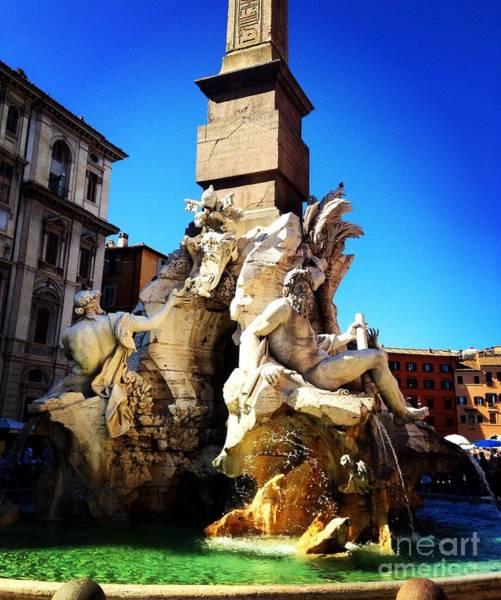 Photograph - Piazza Navona  by Angela Rath